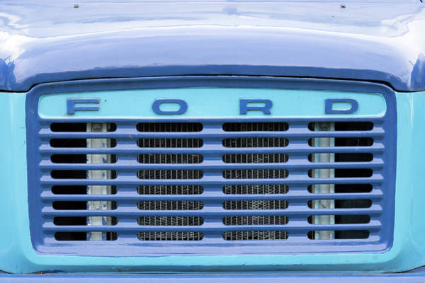 Ford Van Photograph - Classic Ford Transit Van Grille by Richard Nixon