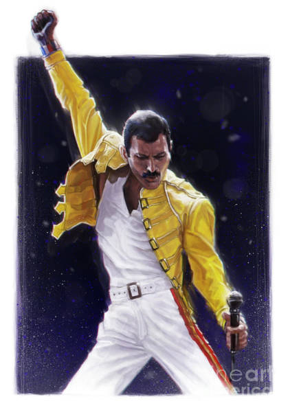 Legend Digital Art - Classic Freddie by Andre Koekemoer