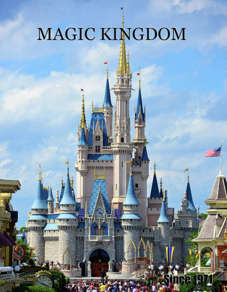 Wall Art - Photograph - Classic Magic Kingdom Poster A by David Lee Thompson