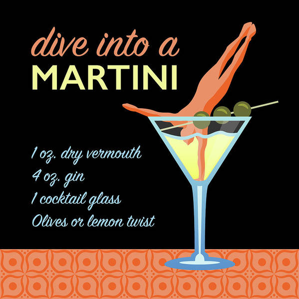 Dive Bar Digital Art - Classic Martini by Claire Huntley