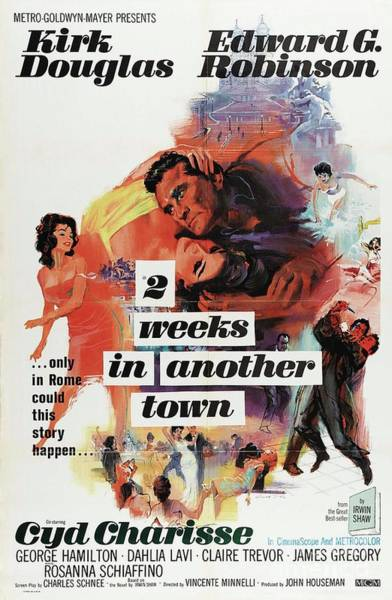 Wall Art - Painting - Classic Movie Poster - 2 Weeks In Another Town by Esoterica Art Agency