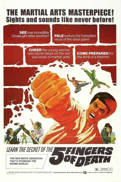 Martial Arts Painting - Classic Movie Poster - 5 Fingers Of Death by Esoterica Art Agency