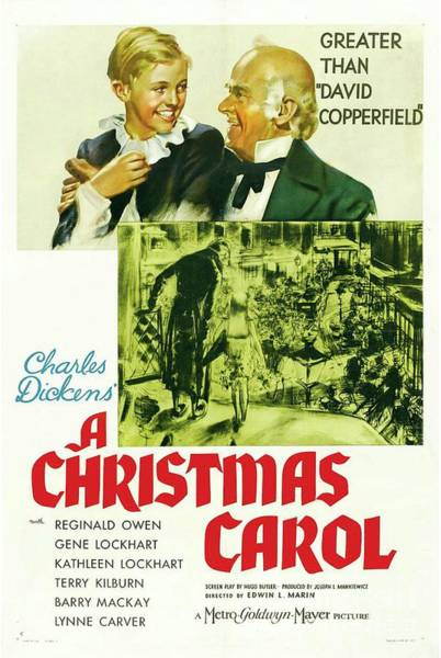 Wall Art - Painting - Classic Movie Poster - A Christmas Carol by Esoterica Art Agency
