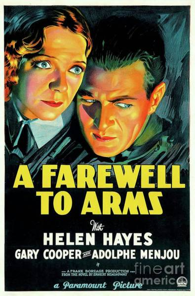 Wall Art - Painting - Classic Movie Poster - A Farewell To Arms by Esoterica Art Agency