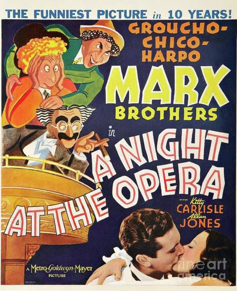Wall Art - Painting - Classic Movie Poster - A Night At The Opera by Esoterica Art Agency