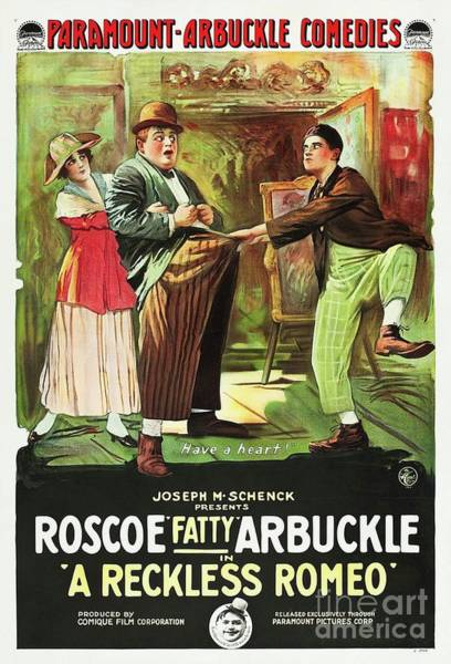 Wall Art - Painting - Classic Movie Poster - A Reckless Romeo by Esoterica Art Agency