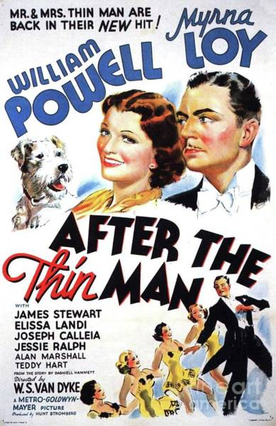 Wall Art - Painting - Classic Movie Poster - After The Thin Man by Esoterica Art Agency