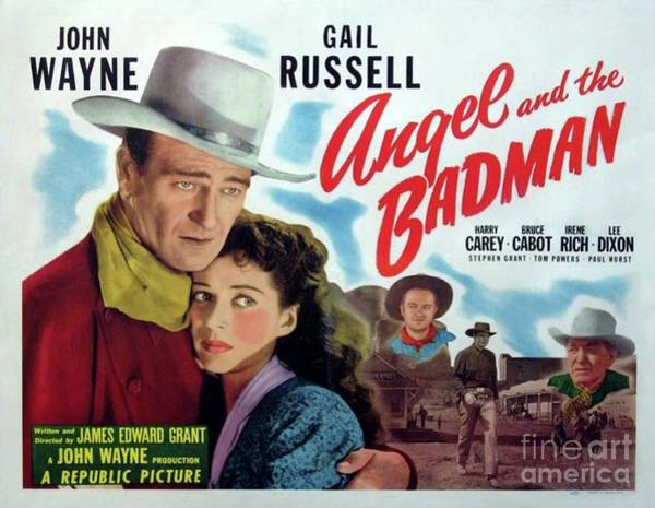 Wall Art - Painting - Classic Movie Poster - Angel And The Badman by Esoterica Art Agency