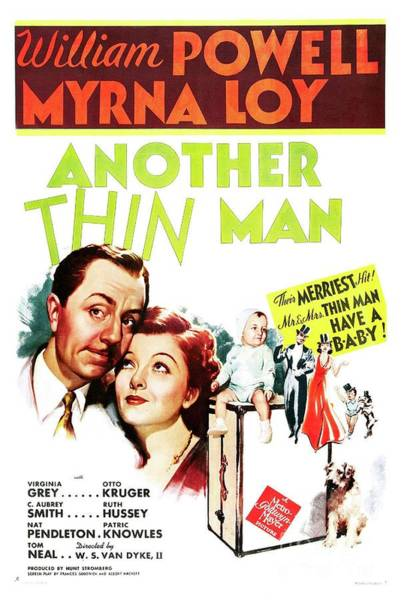 Wall Art - Painting - Classic Movie Poster - Another Thin Man by Esoterica Art Agency