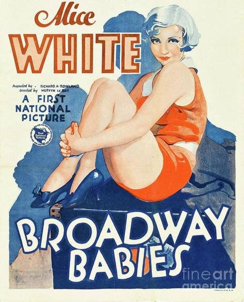Wall Art - Painting - Classic Movie Poster - Broadway Babies by Esoterica Art Agency