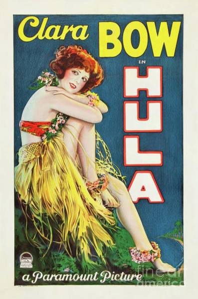 Hula Wall Art - Painting - Classic Movie Poster - Clara Bow In Hula by Esoterica Art Agency