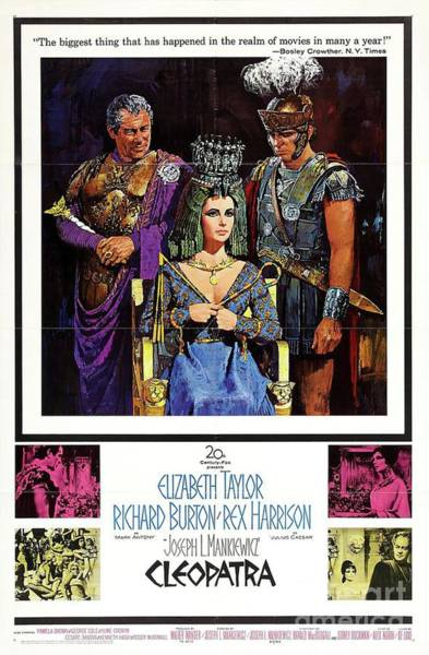Elizabeth Taylor Painting - Classic Movie Poster - Cleopatra by Esoterica Art Agency