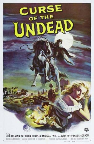 Undead Wall Art - Painting - Classic Movie Poster - Curse Of The Undead by Esoterica Art Agency