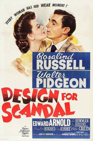 Wall Art - Painting - Classic Movie Poster - Design For Scandal by Esoterica Art Agency