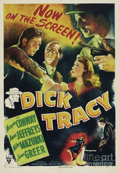 Wall Art - Painting - Classic Movie Poster - Dick Tracy by Esoterica Art Agency