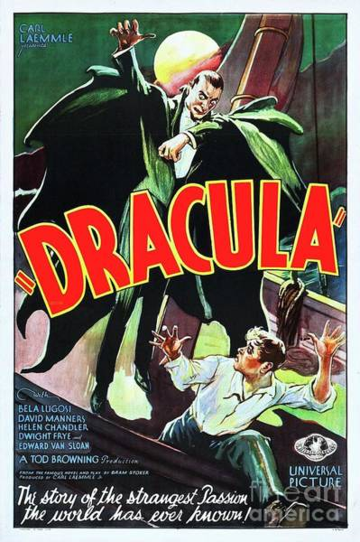 Dracula Painting - Classic Movie Poster - Dracula by Esoterica Art Agency