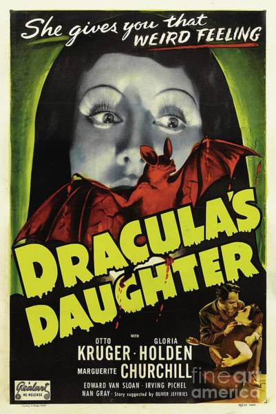Dracula Painting - Classic Movie Poster - Draculas Daughter by Esoterica Art Agency