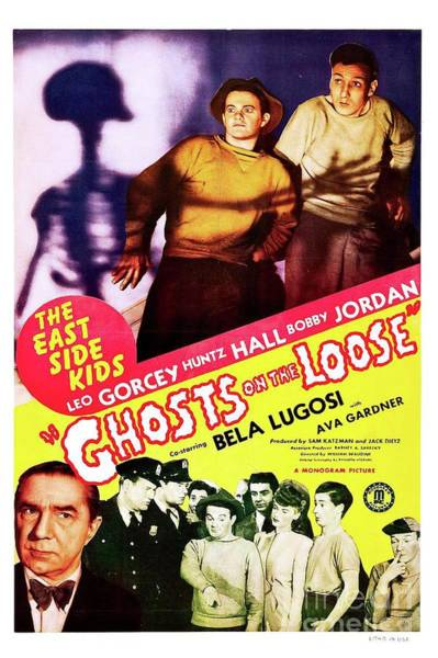 Wall Art - Painting - Classic Movie Poster - Ghosts On The Loose by Esoterica Art Agency