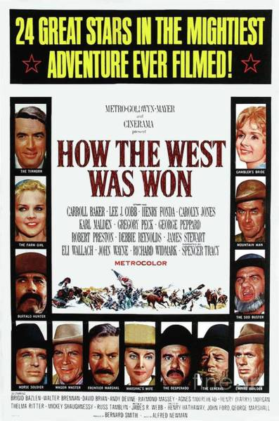 Wall Art - Painting - Classic Movie Poster - How The West Was Won by Esoterica Art Agency