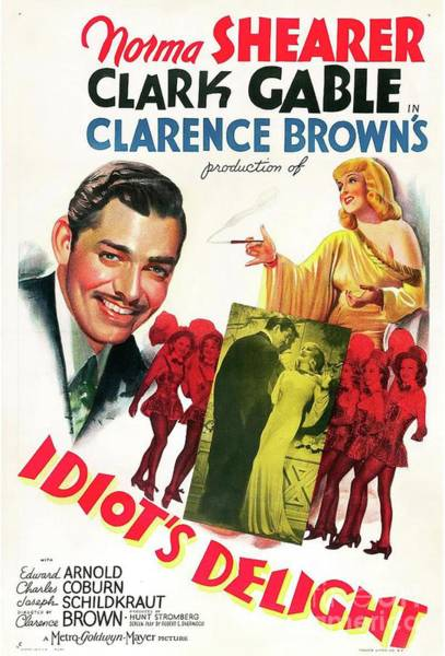 Norma Wall Art - Painting - Classic Movie Poster - Idiots Delight by Esoterica Art Agency
