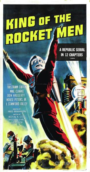 Rocket Painting - Classic Movie Poster - King Of The Rocket Men by Esoterica Art Agency