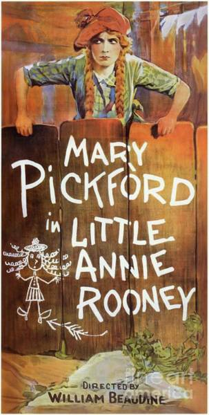 Wall Art - Painting - Classic Movie Poster - Little Annie Rooney by Esoterica Art Agency
