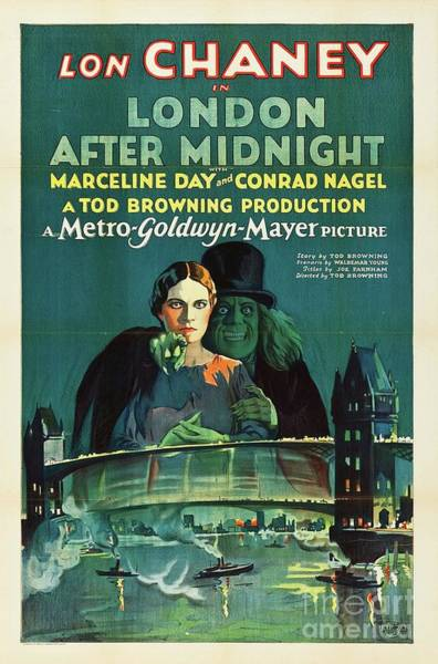 Wall Art - Painting - Classic Movie Poster - London After Midnight by Esoterica Art Agency