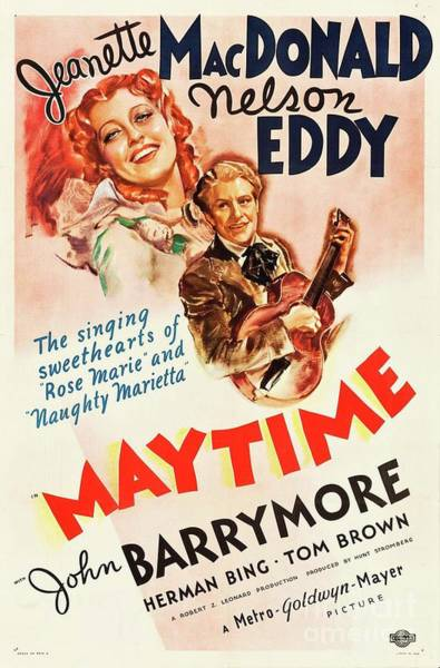 Wall Art - Painting - Classic Movie Poster - Maytime by Esoterica Art Agency