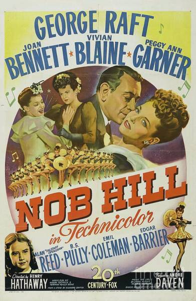 Raft Wall Art - Painting - Classic Movie Poster - Nob Hill by Esoterica Art Agency