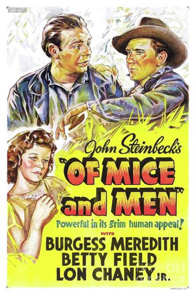 Wall Art - Painting - Classic Movie Poster - Of Mice And Men by Esoterica Art Agency