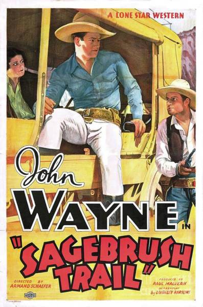 Wall Art - Painting - Classic Movie Poster - Sagebrush Trail by Esoterica Art Agency