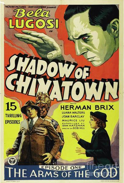 Wall Art - Painting - Classic Movie Poster - Shadow Of Chinatown by Esoterica Art Agency
