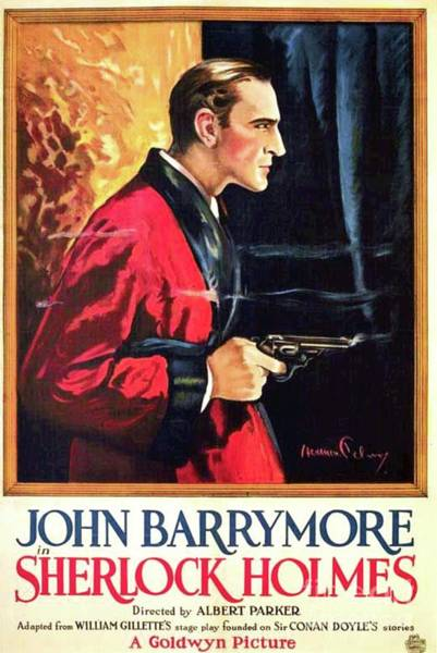 Wall Art - Painting - Classic Movie Poster - Sherlock Holmes by Esoterica Art Agency