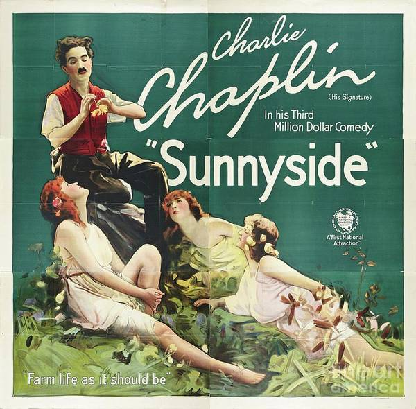 Wall Art - Painting - Classic Movie Poster - Sunnyside by Esoterica Art Agency
