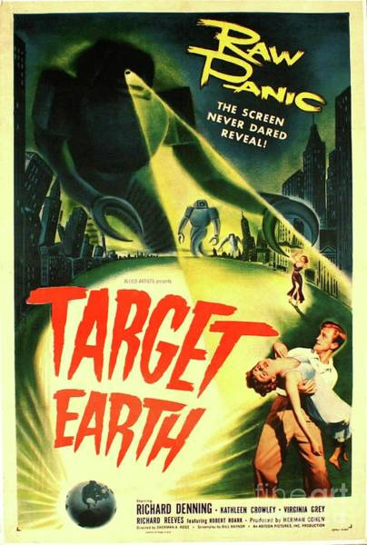 Wall Art - Painting - Classic Movie Poster - Target Earth by Esoterica Art Agency