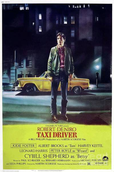 Taxi Painting - Classic Movie Poster - Taxi Driver by Esoterica Art Agency
