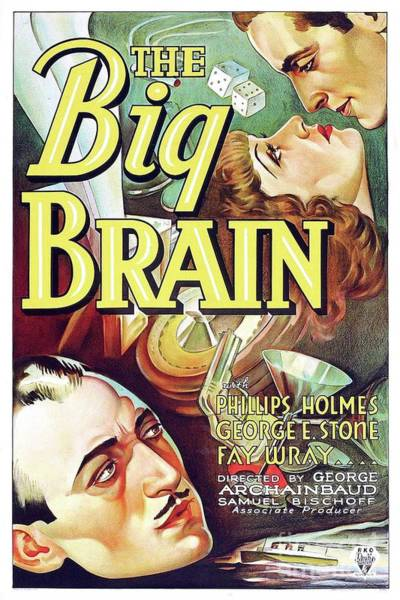Brain Painting - Classic Movie Poster - The Big Brain by Esoterica Art Agency