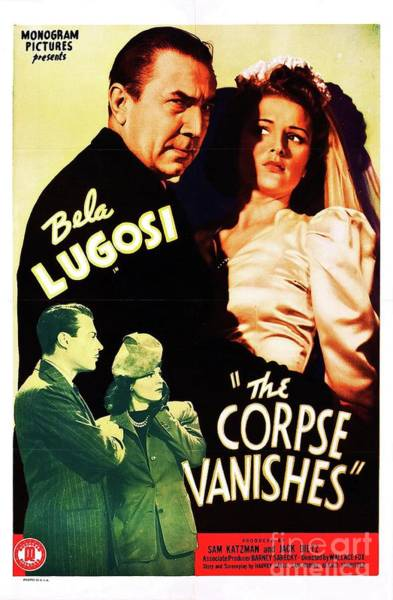 Wall Art - Painting - Classic Movie Poster - The Corpse Vanishes by Esoterica Art Agency