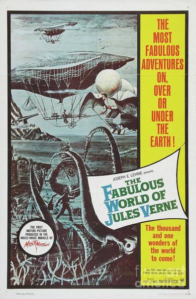 Wall Art - Painting - Classic Movie Poster - The Fabulous World Of Jules Verne by Esoterica Art Agency