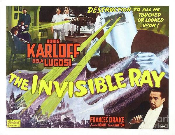 Wall Art - Painting - Classic Movie Poster - The Invisible Ray by Esoterica Art Agency