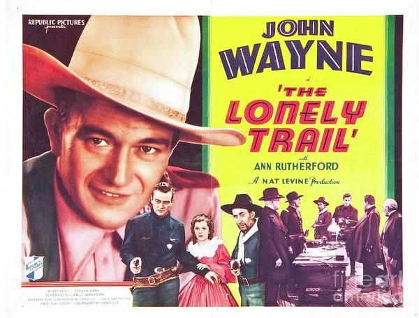 Wall Art - Painting - Classic Movie Poster - The Lonely Trail by Esoterica Art Agency