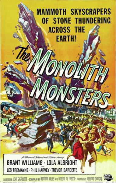 Wall Art - Painting - Classic Movie Poster - The Monolith Monsters by Esoterica Art Agency