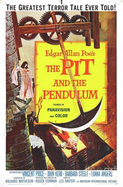 Wall Art - Painting - Classic Movie Poster - The Pit And The Pendulum by Esoterica Art Agency