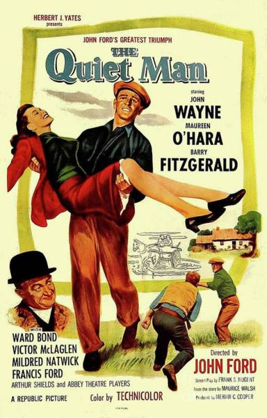Wall Art - Painting - Classic Movie Poster - The Quiet Man by Esoterica Art Agency