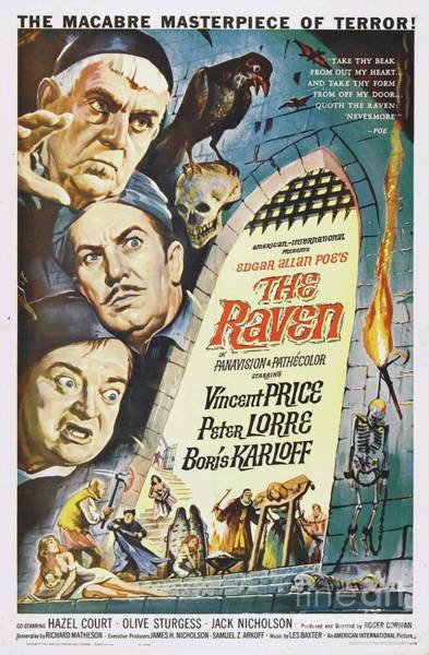 Poe Wall Art - Painting - Classic Movie Poster - The Raven by Esoterica Art Agency