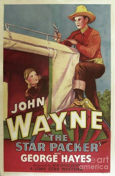 Wall Art - Painting - Classic Movie Poster - The Star Packer by Esoterica Art Agency