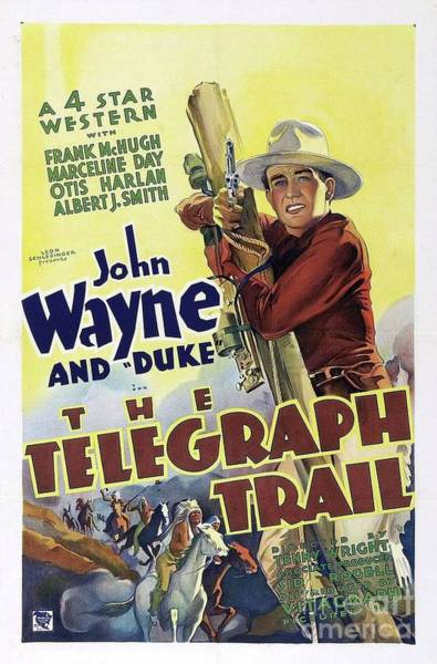 Wall Art - Painting - Classic Movie Poster - The Telegraph Trail by Esoterica Art Agency