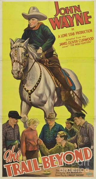 Wall Art - Painting - Classic Movie Poster - The Trail Beyond by Esoterica Art Agency