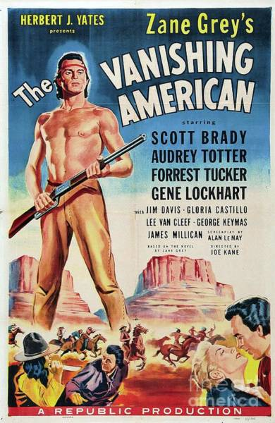 Wall Art - Painting - Classic Movie Poster - The Vanishing American by Esoterica Art Agency