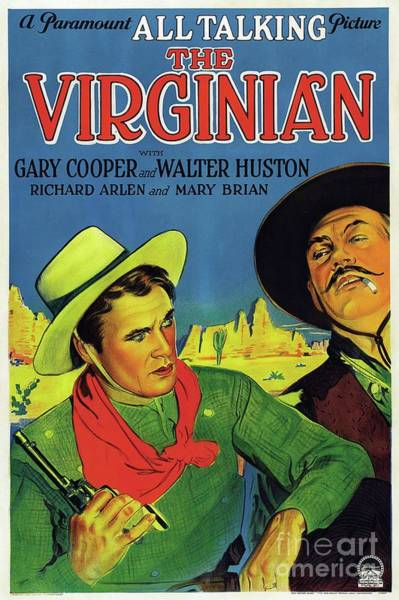 Wall Art - Painting - Classic Movie Poster - The Virginian by Esoterica Art Agency
